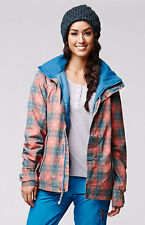 Burton Jet Set Jacket Coat 10k Waterproof Insulated Snowboard Ski Womens Plaid