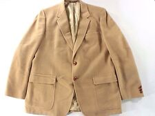 New 100% Camel Hair Sport Coat, Mens 44R L Large Two Button Blazer Tan Jacket
