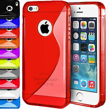 S-Line Case Gel Rubber Silicone Skin TPU Wave Back Cover For Apple iPhone 5 5s