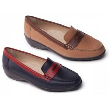 Padders ESTHER Ladies Womens Leather Extra Wide Fitting Casual Classic Loafers