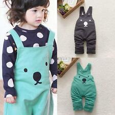 Baby Kids Boy Girl Bib Pants Overalls Cute Bear Print Harem Pants Long Trousers