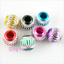 Silver Carved Aluminum Spacer Beads 6mm,8mm,10mm,12mm R5027