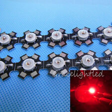 3W Deep RED 660nm-665nm LED Plant Glow Light with 20mm Star Base 1 5 10 20 50PCS