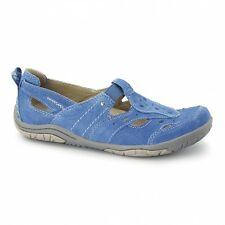 Earth Spirit LONG BEACH 2 Ladies Womens Leather Summer Sporty Sandal Shoes Blue