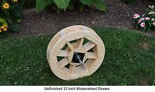 """Amish-Made 15"""" Waterwheel - Waterwheels Available in 9 Finishes"""