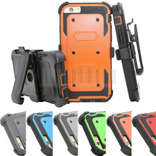 Armor Shockproof Hybrid Rubber Rugged Hard Case Cover Clip For iPhone 6 6S Plus