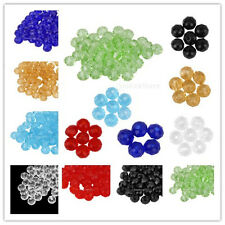 50pcs Fashion Crystal Faceted Gemstone Glass Wheel Loose Beads Jewelry DIY Craft