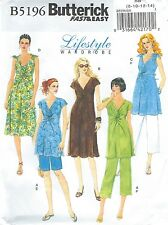 Butterick 5196 Misses' Maternity Top, Dress, Shorts and Pants Sewing Pattern