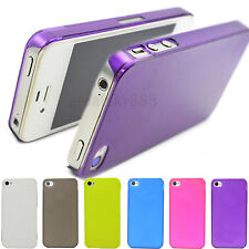 6 colors Hard Matte Back Phone Cover Case Accessories For Apple iPhone 4 4S 4G