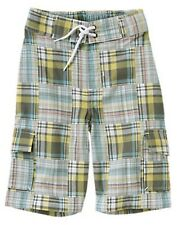 NWT Gymboree Surf Rocks Plaid Patchwork Short Size 4,7
