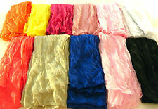 Womens Long Scarf  Crinkle Girls Wrap Shawl Soft Cotton Blend Fashion Accessory