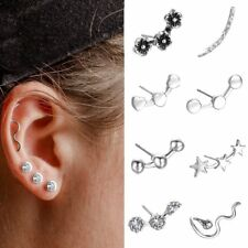 New Cartilage Piercing silver wave Lightning Earring Ear Stud Threader jewelry