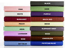USA 1000TC 3PC DUVET SET SOLID & STRIPE COLORS 100% EGYPTIAN COTTON IN ALL SIZE