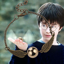 Harry Potter bracelet Silver Bronze Tone Golden charm Snitch ball Angel Wings