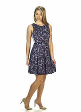 Gabby Skye Womens Lace Fit and Flare Dress - Party Dresses