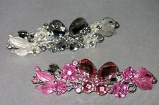 BEAUTIFUL NEW BUTTERFLY BARRETTE CRYSTALS SELECT COLOR SHIPS FAST FROM USA