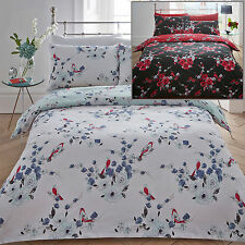Beautiful Birds Duvet Quilt Cover Pillowcase Bedding Set Double King Aviary New