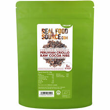 REALFOODSOURCE Certified ORGANIC Peruvian Criollo Cocoa / Cacao Nibs