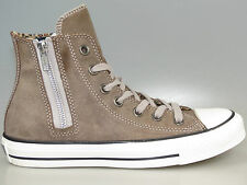 Converse AllStar Side Zip Hi Suede Brown 532210C NEW all sizes