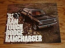 Original 1982 Dodge Ram Tough Ramcharger Foldout Sales Brochure 82