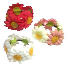 FLOWER BUN WRAP RING HAIR SCRUNCHIE DANCE BALLET BRIDAL SCRUNCHIE .