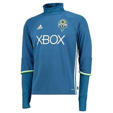 adidas Mens Gents Football Soccer Seattle Sounders Long Sleeve Training Top