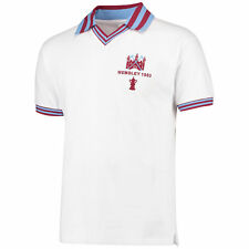 Score Draw Retro Football West Ham Utd 1980 FA Cup Final White Shirt Jersey