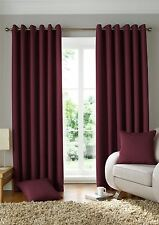 WOVEN JACQUARD SQUARES WINE RED LINED RING TOP CURTAINS DRAPES *9 SIZES*