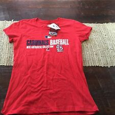 Womens Majestic St Louis Cardinals MLB Authentic Collection GameDay T Shirt NWT