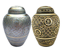 Elegant Radiance Series Brass Pet Memorial Cremation Urn Small to Large Dog Cat