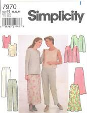 Simplicity 7970 MIsses' Jacket, Top, Pants and Skirt 10,12,14  Sewing Pattern
