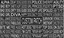 SEIZURE ALERT  Patch Reflective Extra Label Tag for Dog Harness Service