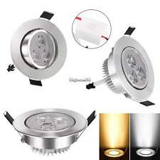 9W LED Dimmable Ceiling Recessed Down light Fixture Lamp Light & Driver 85-265V