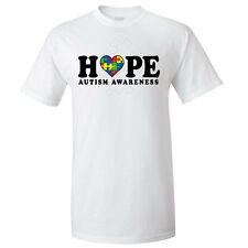 Autism Awareness T-shirts - Hope, White or Black Shirt
