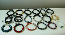 Cord Bracelets Gemstones Hematite Balls Womens Girls Adjustable Multi Colors