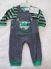 BABY BOYS 2PCE SET OVERALLS & T SHIRT USA BRAND DUCK DUCK GOOSE BNWT