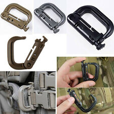 2PCS Grimloc D-ring Molle Locking Webbing Buckle Barabiner Climb Backpack Hook