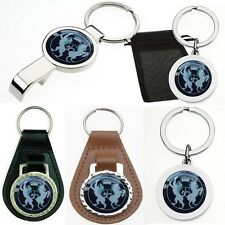 MI6 SECRET SERVICE LEATHER METAL KEYRING BOTTLE OPENER VARIOUS STYLES