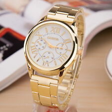 NEW Trendy Luxury Men Women Geneva Analog Gold Round Sport Quartz Wrist Watch
