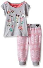 Juicy Couture Girls Gray Top 2pc Lace Pant Set Size 4 5 6 $69.50