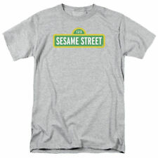T-Shirts Sizes S-5XL New Authentic Mens Sesame Street Logo Tee Shirt