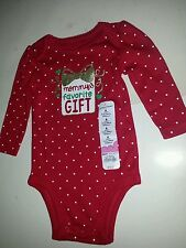 Infant Jumping Beans Brand Red Mommy's Favorite Gift Christmas Onesis 6 9 24M