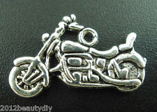Wholesale HOT! Jewelry Silver Tone Motorcycle Charms Pendants 24x14mm