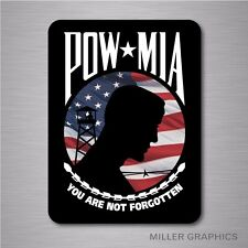 POW MIA American Flag Military Decal Sticker Graphic for Car Truck SUV Window