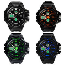 Military S-Shock Sports Watch LED Watch Analog Digital Watch Waterproof Alarm