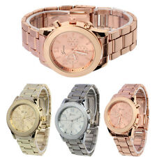 Luxury Womens Watch Geneva Watch Ladies Stainless Steel Quartz Wrist Watch