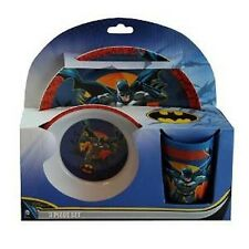 Batman Mealtime Dinnerware Set Includes Plate Bowl and Cup by DC Comics-New!