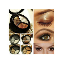3 Colors Eyeshadow Natural Smoky Cosmetic Eye Shadow Palette Set Make Up New