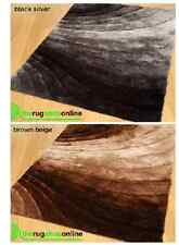 Small Large Black Silver Brown Beige Non Shed Thick Silky 3D Shaggy Modern Rugs