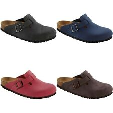 Birkenstock Boston Clogs - black brown blue red - Birko-Flor